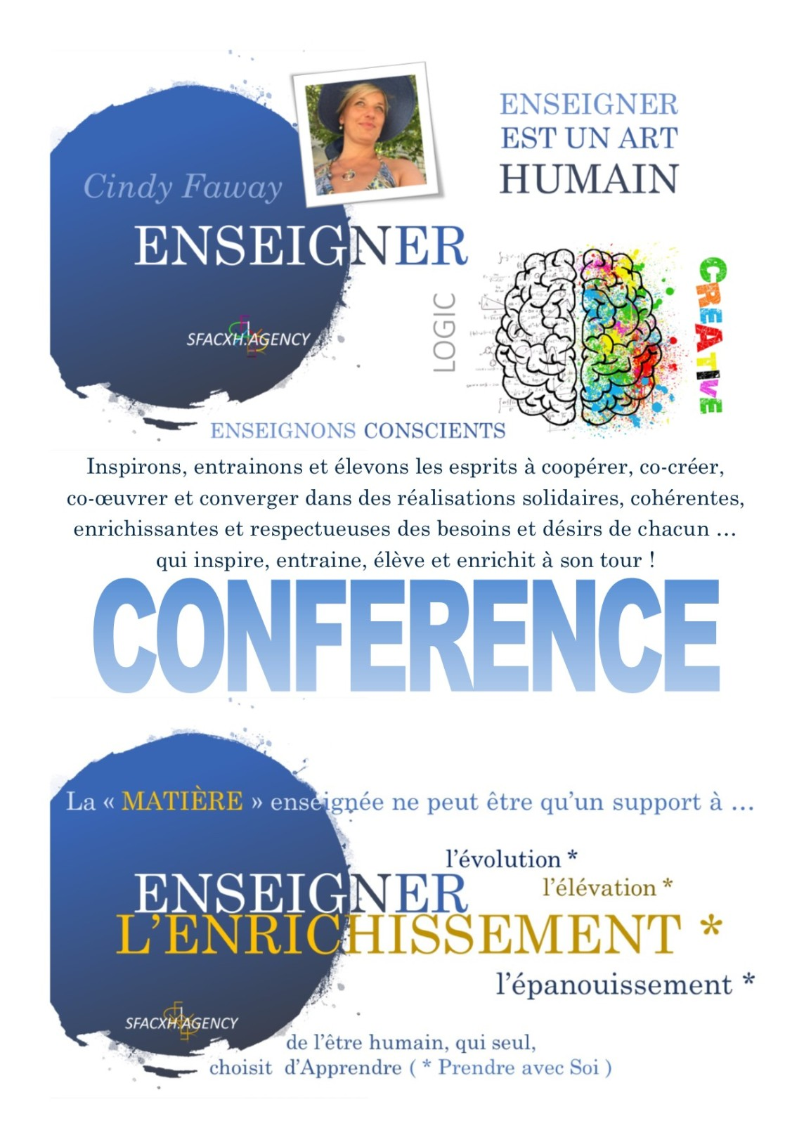 CONFERENCE ENSEIGNER SFACXH AGENCY
